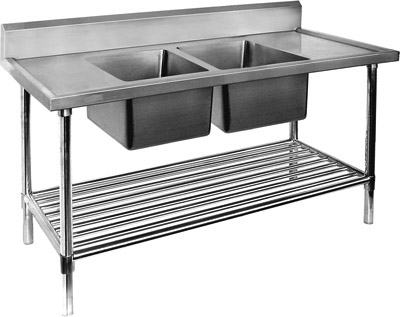 Stainless Steel Double Sink Benches
