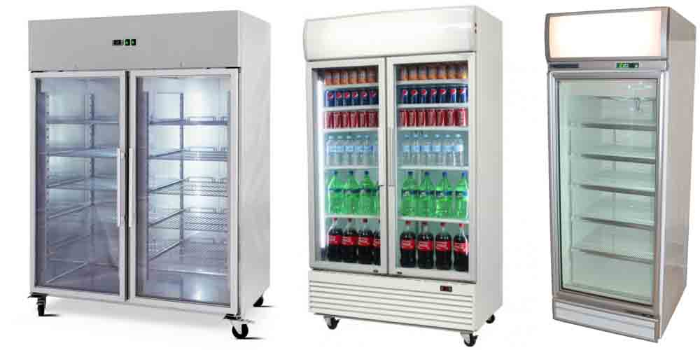 Commercial Upright Glass Door Display Fridges Freezers Cabinets